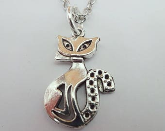 Silver cat necklace,cat mom gift,cat charm pendant,siamese cat necklace,silver cat charm,cat jewelry,silver pendant,animal necklace,cat gift