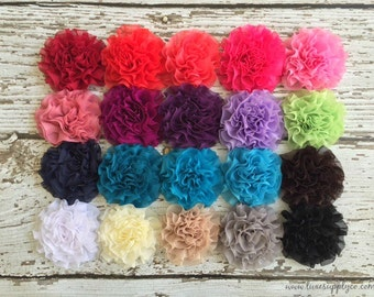Chiffon Cabbage Flowers -  You Choose the Colors and Quantity- Quality Discount - Please Read Listing!