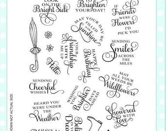 Creative Expressions  Clear Stamp Set CEC882 - Shwoered With Love, Sentiments