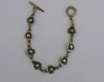 Vintage - Romantic - Floral - Silver - Bracelet