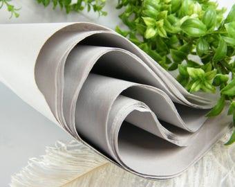 "Grey Tissue Paper - Light Grey 48 Sheets of 20"" X 30"" -DIY Gray Wedding Decor - Gift Wrap Idea - Gift Tissue - DIY Pom Pom Supplies"