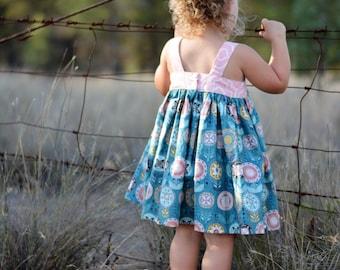 Girls Dress Pattern - Lemon Drop Dress for Girls - PDF Girls Dress Pattern - Top and Dress Pattern PDF - Sewing Pattern PDF for Girls