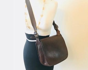 Vintage Coach Handbag // Made In New York City // Coach Mahogany Original Flap // Classic Shoulder Bag # 061-0111