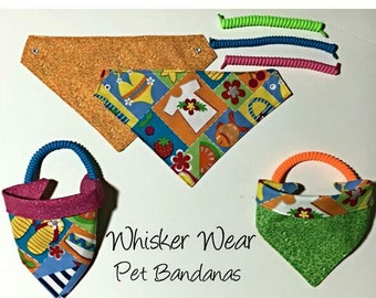 summer wear, reversible dog scarf, dog bandana, pet scarf, pet bandana, pet attire, pet clothing,summer, reversible, sandals, beach