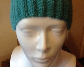 Hand Knit Moss Rib Headband Earwarmer in Green, Knitted Headband
