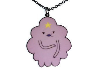 Lumpy Space Princess Necklace, Adventure Time LSP, Oh My Glob, Cute Kawaii Laser Cut Necklace