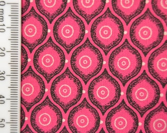 Shweshwe - South African Cotton - Pink Crush - Pink and White.