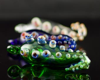 Octopus Tentacle Pendant Pipe / Glass Spoon Pipe / Smoking Pipe / Tobacco Pipe Glass / Borosilicate / You Choose the Color / Made to Order
