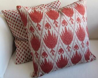 CASABLANCA CORAL  decorative pillow cover 18x18 20x20 22x22 24x24 26x26