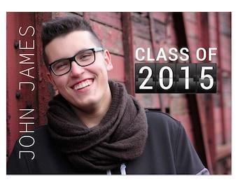 Graduation Announcement Card Photoshop Template 006