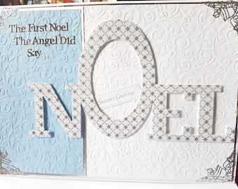 Large A4  'Noel'  Christmas Card - Mum, Dad, Wife, Husband, Sister, Nan, etc