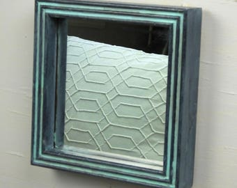 Upcycled 2-groove Mirror/Beach House Collection Mirror