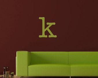 Letter monogram vinyl wall decal