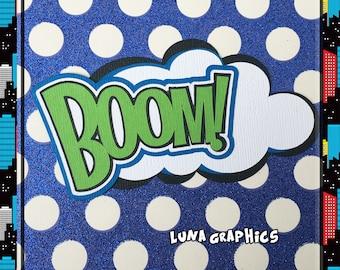 BOOM Comic Book woorden decoratie papier patchwork kaart maken en scrapbooking