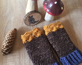 Fingerless Gloves mustard , crochet Gloves, open Gloves 'rainy Day' handwarmers, mustard gloves