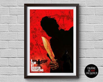 Inglourious Basterds Minimalist Poster A Film By Quentin Tarantino Alternative Movie Print Cult Classic Home Decor Wall Artwork Hanging