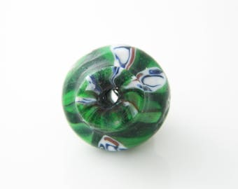 Pearl 20mm green glass (l75)