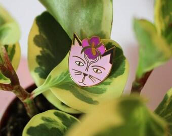 Georgia O'Cat cat Enamel Pin