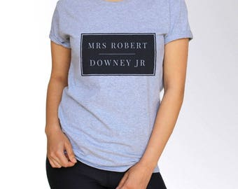 Robert Downey Jr T shirt - White and Grey - 3 Sizes
