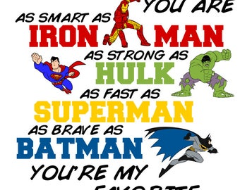 Daddy you are my Favorite Superhero - Papa, Daddy, Husband, Son and Dad included - svg, pdf, png and dxf files