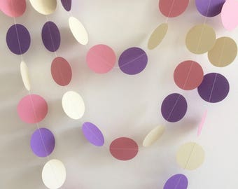 Pink, Purple and Ivory Garland, Party Decor, Weddings, Baby Shower