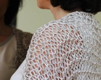 White linen cotton shrug
