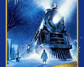 "Polar Express Panel 100% cotton 44"" fabric panel 35"" ***SC607***"