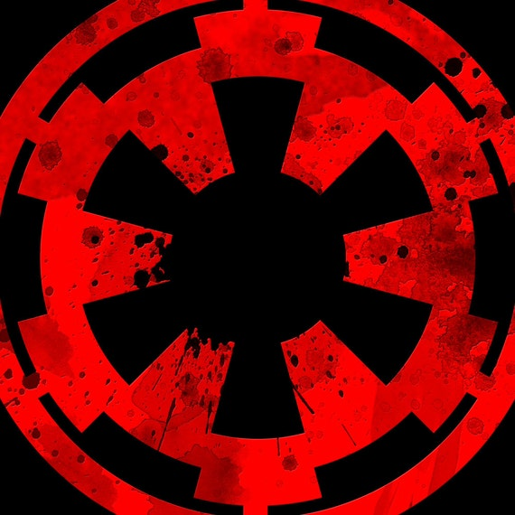 Galactic Empire Symbol Star Wars Sticker From Player1stickers On