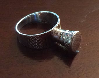 Sterling Silver Talisman Ring West African Tuareg Statement Ring