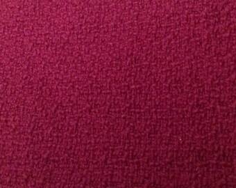 Fancy dark fuchsia solid wool