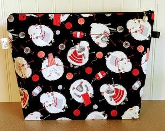 Sheep Knitting Project Bag - Large / Sweater Size
