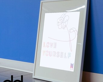 "BTS (Bangtan Boys) ""Love Yourself 承 Her"" Album Digital Print Poster (16x20in)"