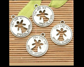 Angel coin charms #82122