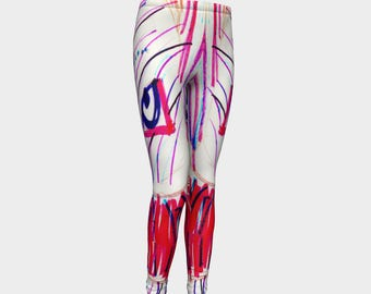 Girls leggings - Miss Hootie  - Activewear - Gymnastics - Tights  - Gift for girls - Back to school - Gymnastics