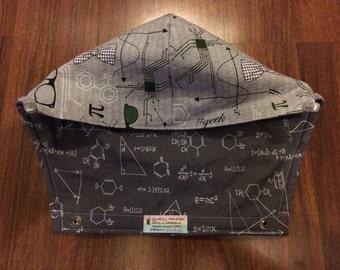 Tula Hoodie Hood in Math formulas fabric (Geek to Me) & Grey OR Black formulas