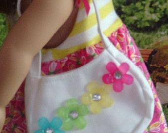 White Summer Shoulder Bag for American Girl Dolls