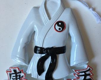 Black Belt,Tae Kwon Do, Kung Fu, Judo Karate, Jujutsu, Sports-  Personalized Christmas Ornament
