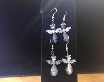Angel Earrings - Silver Tone