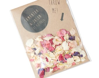 Wedding Confetti personalised Envelopes (Biodegradable confetti)