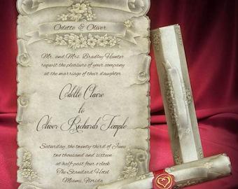 Best Scroll Wedding Invitation 100 pcs   Promo Offer