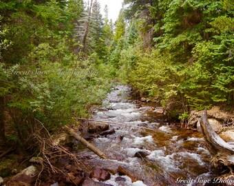 Rocky Waterfall, Photography, Home Decor
