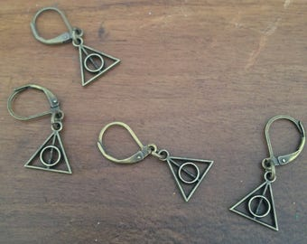 Deathly Hallows Stitch Markers