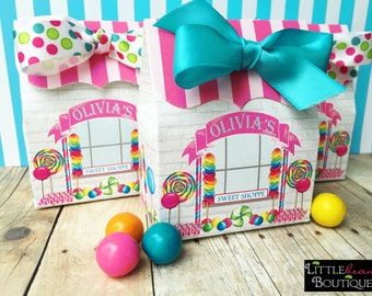 Candy Party, Candy Shop favor boxes, candy Party favors, Personalized favor Box, CandyFavor box, Sweet Shop, Candy Buffet box, Treat box