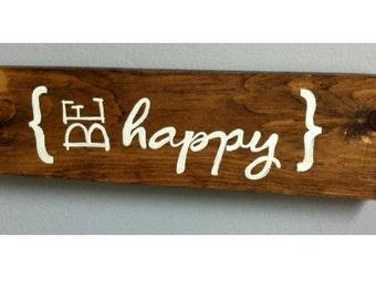 Be Happy Wood Wall Art