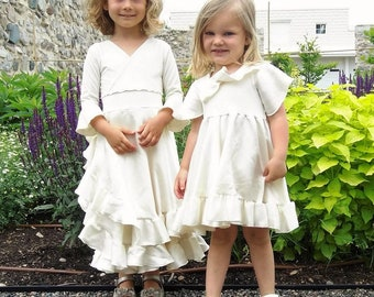 Silk Girls Dress for Special Occasion -  Custom Made with 3 Styles, 4 Colors, 5 Sizes to Choose From - Made with Organic Cotton and Hemp