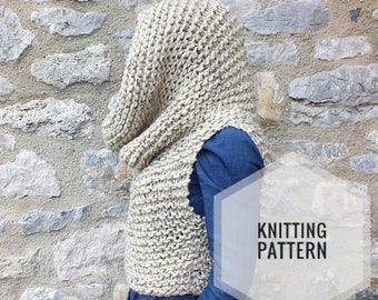 Knitting pattern,Chunky vest pattern, Cowl vest Pattern, Hooded pattern,Easy to knit pattern,knitting patterns for women