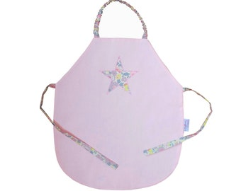 Towel way apron pale pink and star Liberty Betsy Lemonade