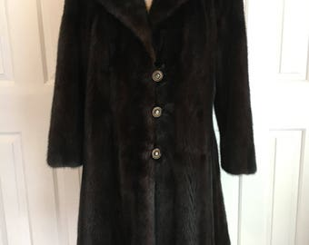 VINTAGE Mink coat with Rhinestone buttons