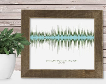 Sound Wave Print Song Lyric Voice Recording Personalized Mothers Day Gift Ideas Personalized Mom from Daughter Mom from Son Mom Wall Art
