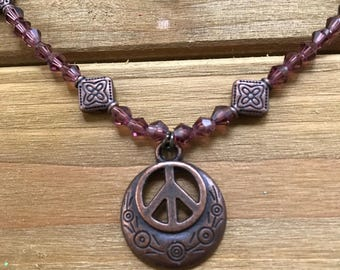 Awesome Peace Sign Necklace